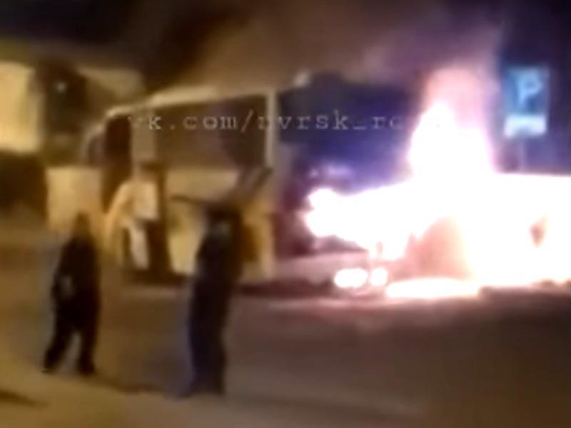 В Новороссийске сгорел автобус «Астрахани»