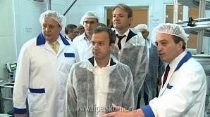 Александр Ткачёв и Аркадий Дворкович посетили завод «Прогресс»