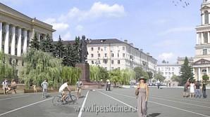 Липчане могут оценить проекты благоустройства Соборной площади и Нижнего парка