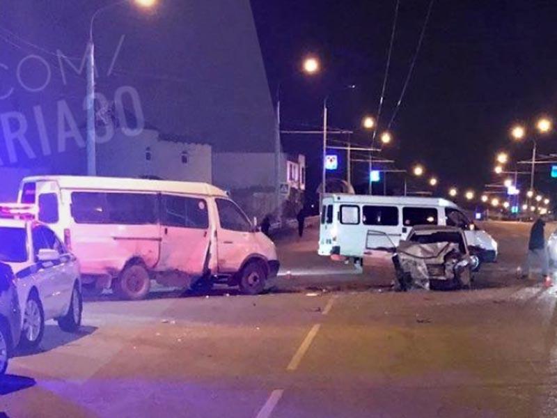 Страшная авария на Аэропортовском шоссе в Астрахани