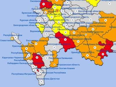 В Астраханской области относительно высокая степень оказываемого давления…