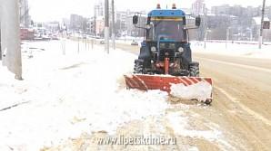 Более 3 тыс. кубометров снега вывезли с улиц Липецка