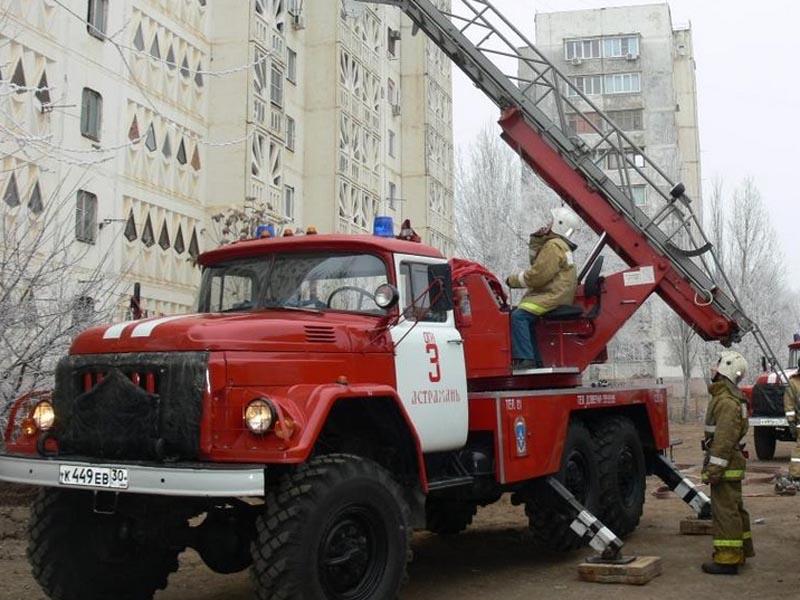 В Астрахани горела квартира в девятиэтажке